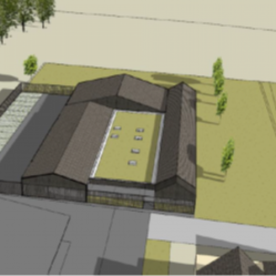 Lorient – Bâtiment dépôt Centre Funéraire de Kerlétu